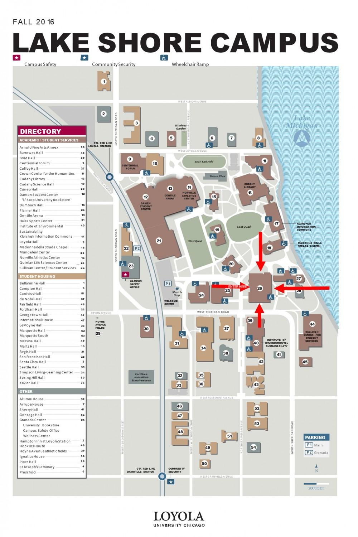 loyola lakeshore campus map Loyola University Lake Shore Campus Map 57th National Mathlete loyola lakeshore campus map